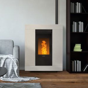 pelletkachel Nordic Fire Espa 9,8kw wit steen